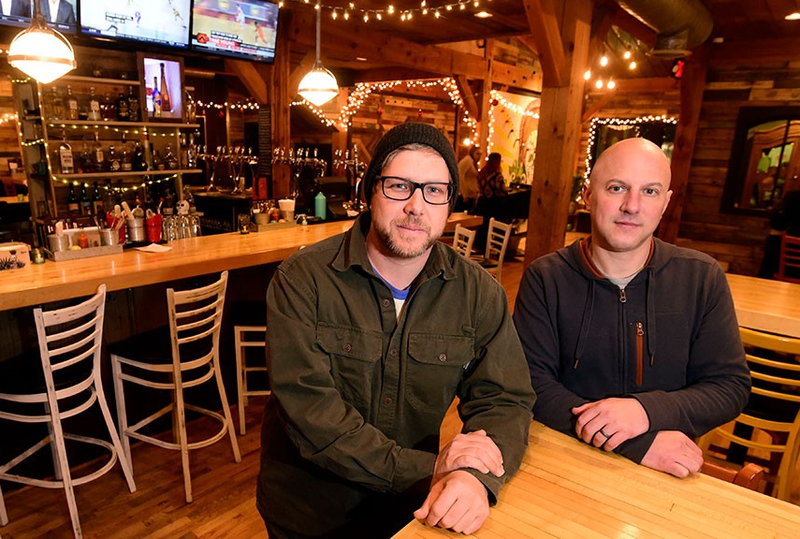 With the recent opening of Tres Amigos, Mark Frier (left) and Chad Fry now own a trio of resturants in the Waterbury-Stowe area.