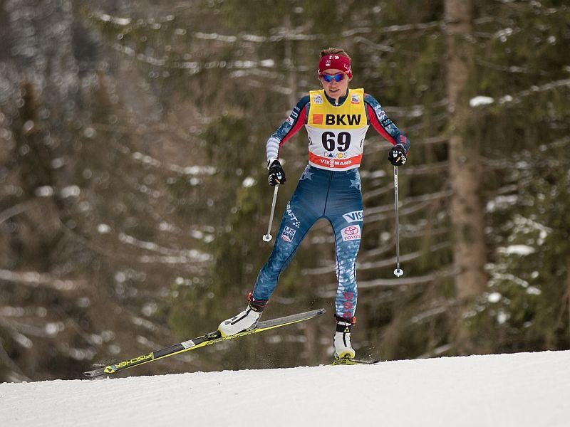 Sophie Caldwell, seen here competing in the 2017 World Cup in Davos, Switzerland, will be competing in the Olympics this month.