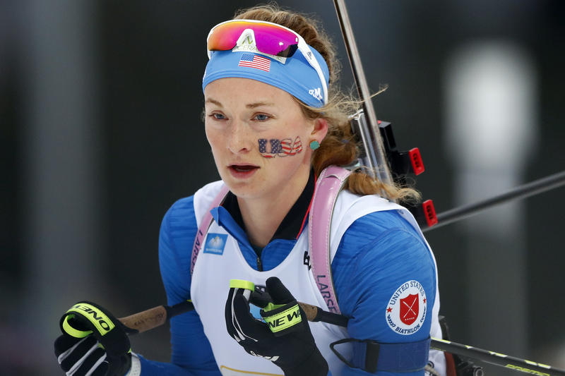 Emily Dreissigacker at a competition earlier this year in Germany.