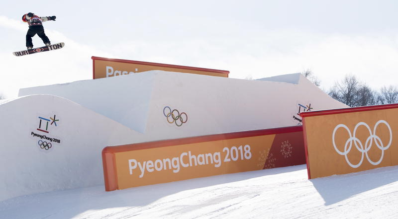 Snowboarders practice in Pyeongchang, South Korea in advance of the Winter Olympics.