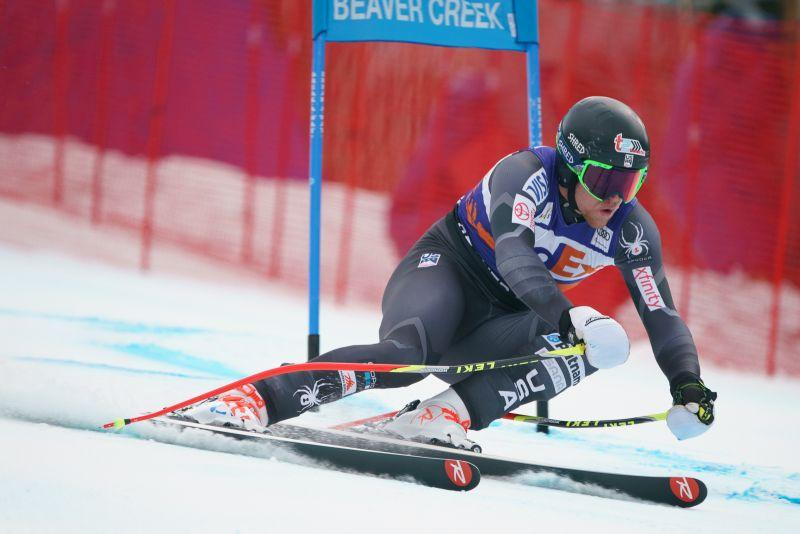 Ryan Cochran-Siegle skis in the Super G 2017 Audi Birds of Prey Alpine World Cup at Beaver Creek Creek, CO.