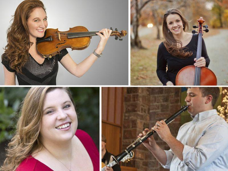 "Cellist Emily Taubl, violinist Brooke Quiggins, pianist Claire Black, and clarinetist Dan Liptak will perform Olivier Messiaen's, ""Quartet For The End Of Time,"" this weekend in Stowe."