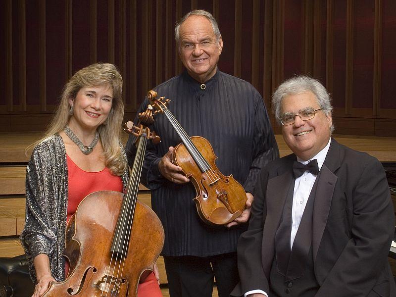 Cellist Sharon Robinson, violinist Jaime Laredo and pianist Joseph Kalichstein perform with the VSO this week.