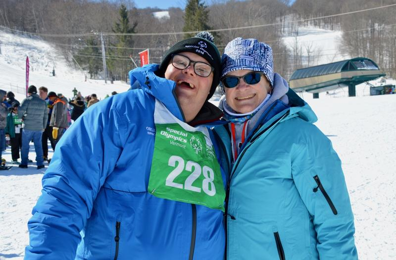 Dylan Fortin, who's 24 and from Barton, Vermont has been competing in Special Olympics since he was 8. His mother Gail says he loves to re-connect every year with friends.