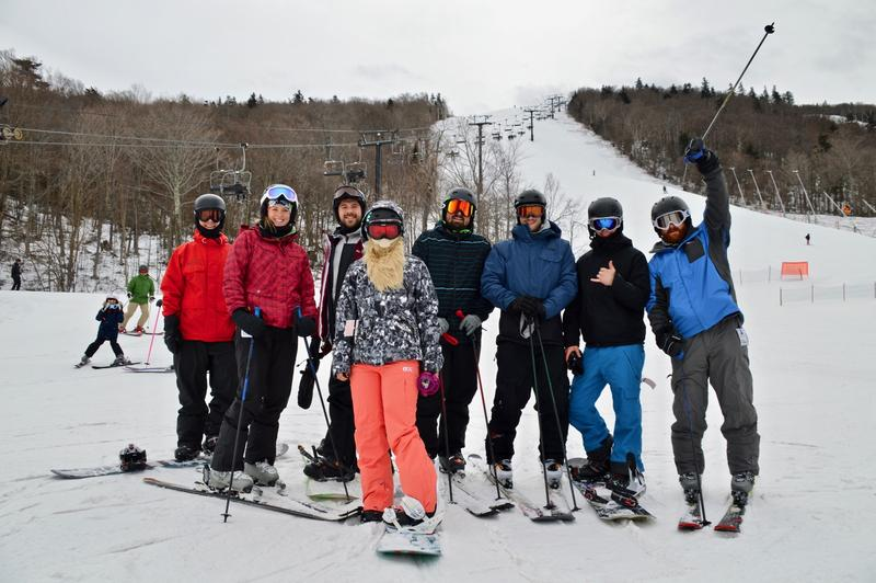A group of friends from the Boston area spends a day at Killington recently.