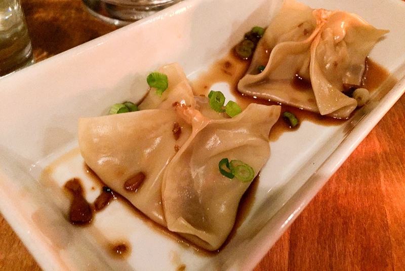 Chicken dumplings (pictured) served at Double King, a Chinese food pop-up at Montpelier's Kismet restaurant.