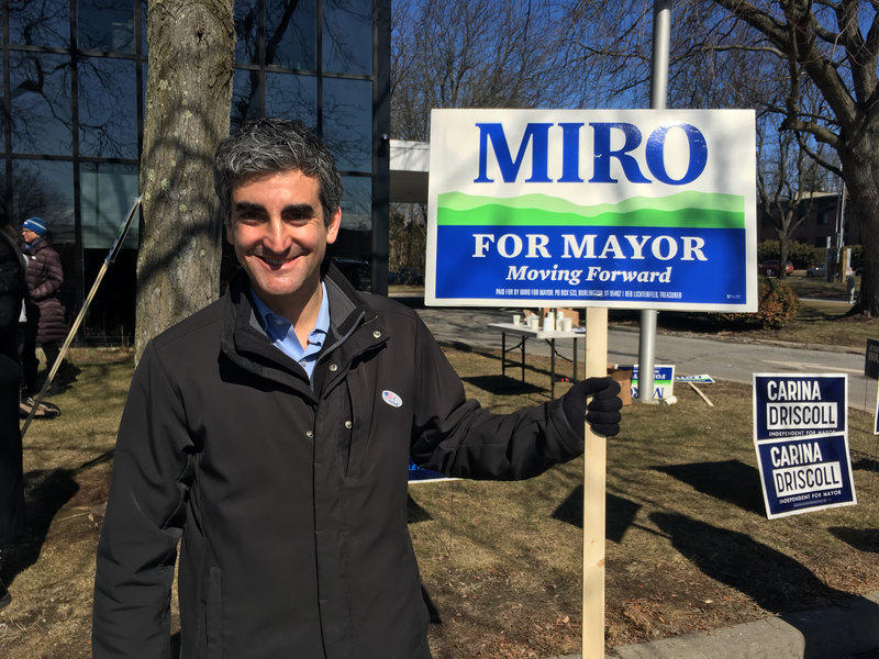 Burlington Mayor Miro Weinberger won reelection for a third-term. He got about 48 percent of the votes on Town Meeting Day.
