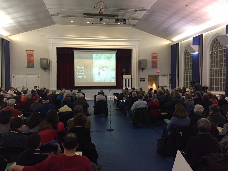 About 100 people filled Tracy Hall in Norwich for an informational town meeting on Monday night.