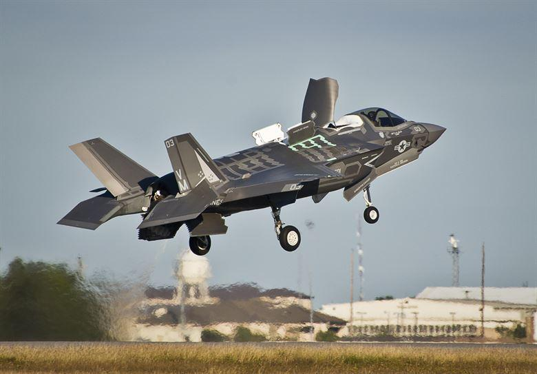An F-35B lifts off from the runway at Eglin Air Force Base in Florida in October 2017. Burlington will receive 18 F-35s starting in 2019.