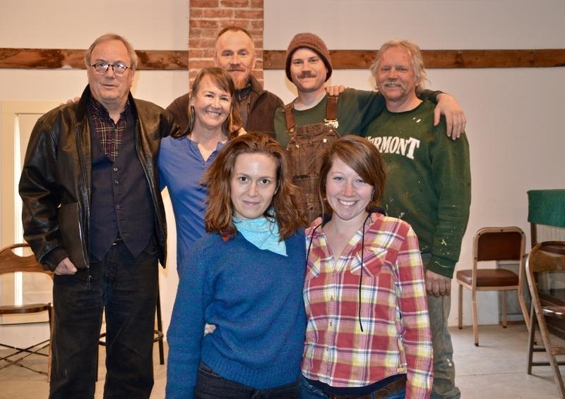"Some of the cast of ""Our Town,"" including: Bruce Bouchard, Melissa Chesnut-Tangerman, Glenn Tarbell, Wheaton Squier, Marshall Squier, and front left to right, Megan Bouchard and Rainbow Squier."