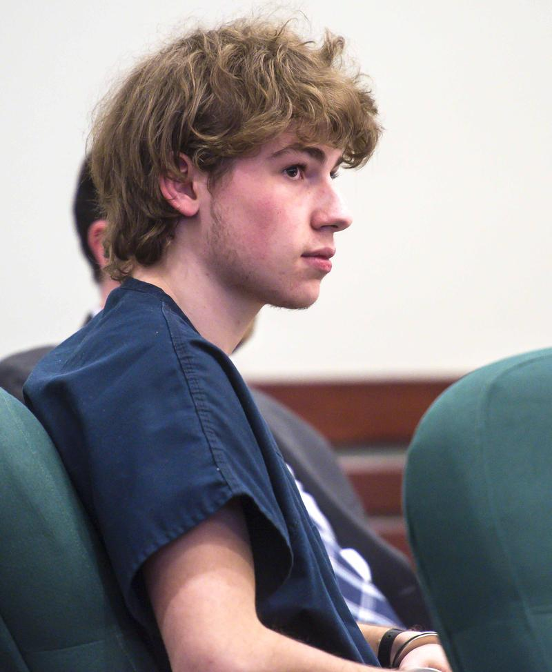 Jack Sawyer sits in Rutland Superior Court