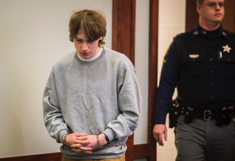 Jack Sawyer in court, Tuesday. Sawyer was granted bail with a number of stipulations.