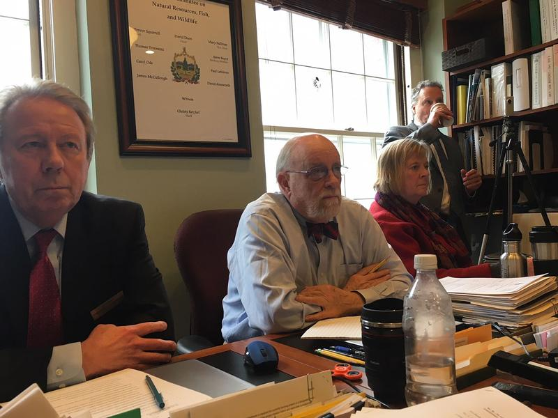 Rep. David Deen, center, listens to testimony last week on a water quality bill. Deen, who chairs the House Committee on Natural Resources, Fish & Wildlife, says his committee may unveil a water quality funding plan this week.