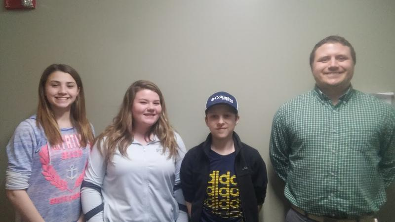 Middle Schoolers Maegan Oliver, Maddison Favreau and Noah Domingue researched and proposed House Bill 252 with help and guidance from their teacher, Ed Kolnaski.