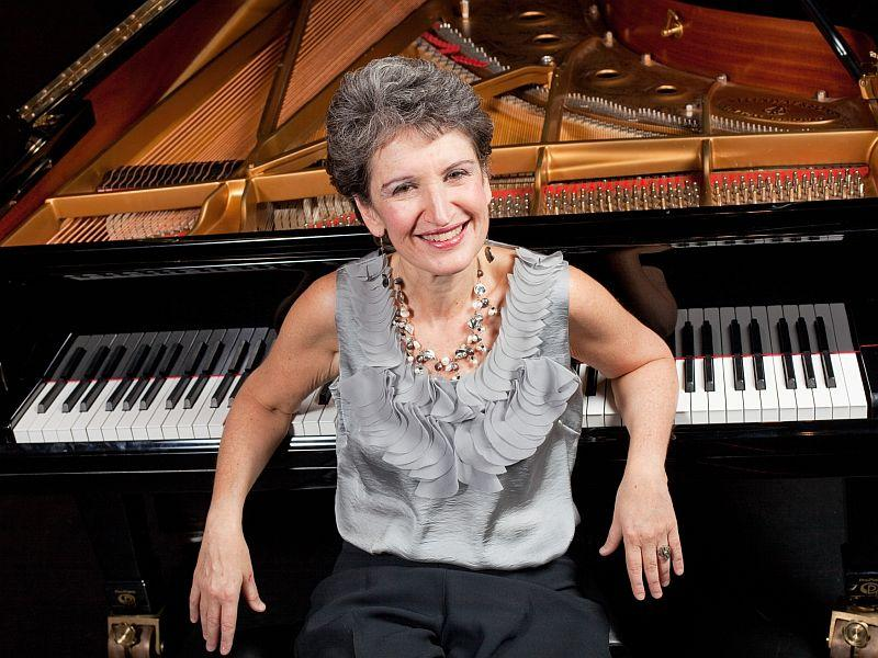 Pianist Sally Pinkas visits VPR on Thursday.