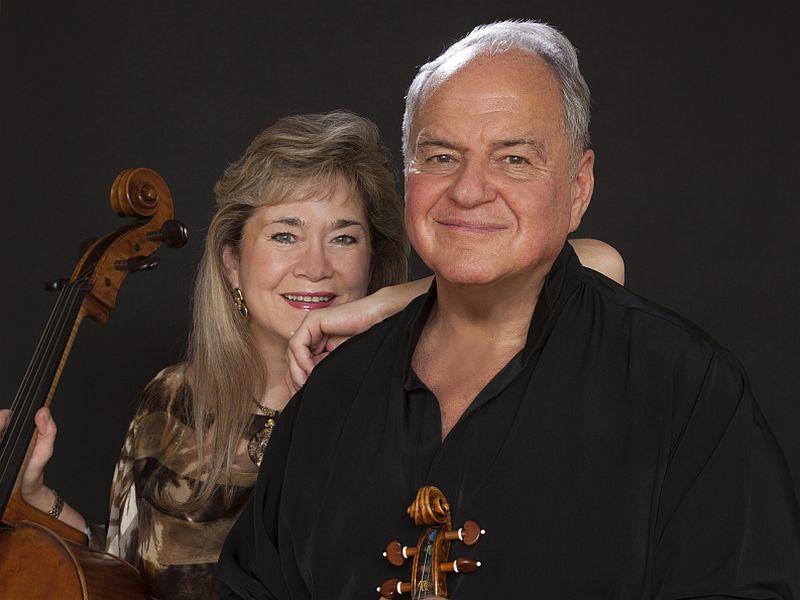 Cellist Sharon Robinson and violinist Jaime Laredo play Brahms' Double Concerto.
