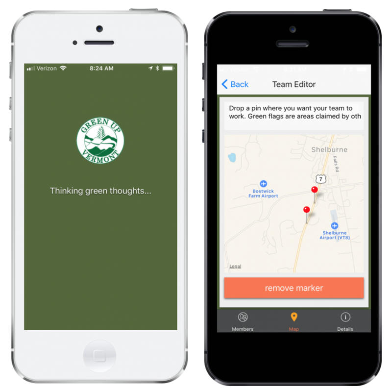 The new Green Up Day app, made in partnership with Code For BTV is designed to connect potential volunteers with activities and clean up opportunities across the state.