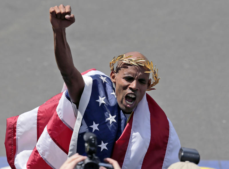 Meb Keflezighi won the Boston Marathon men's race in 2014. Now, he's running on a relay team at the Vermont City Marathon.