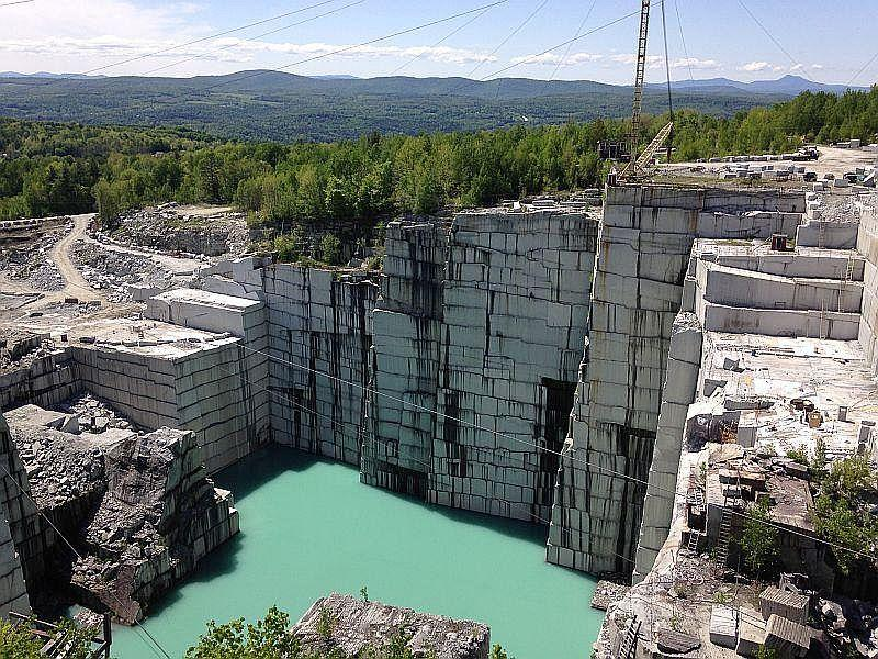 Granite, seen here at the Rock of Ages quarry in Barre, is one of Vermont's three state rocks, along with marble and slate.