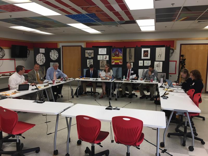 The State Board of Education met in Rutland Wednesday. The board has to come up with new measurements for small school grants before June 30.