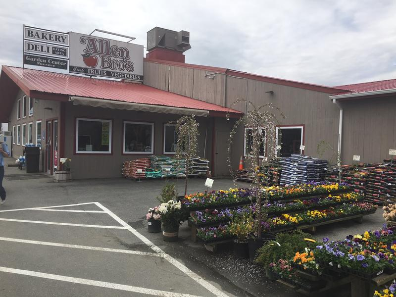 The exterior of Allen Brothers Market in Westminster, Vermont.