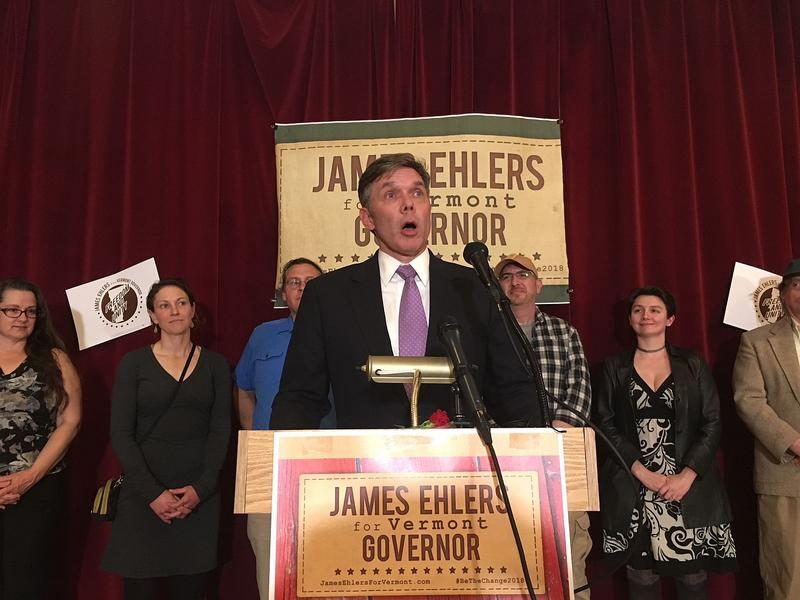 At his campaign launch in Barre Monday, Democrat James Ehlers told supporters that he has the most progressive policy agenda of any of the candidates vying for the governor's seat in 2018.