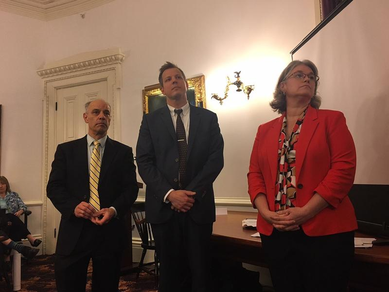 Finance Commissioner Adam Greshin, Tax Commissioner Kaj Samsom and acting Education Secretary Heather Bouchey pitched Gov. Scott's education plan in May. Today, we're talking about the continuing budget standoff in Montpelier.