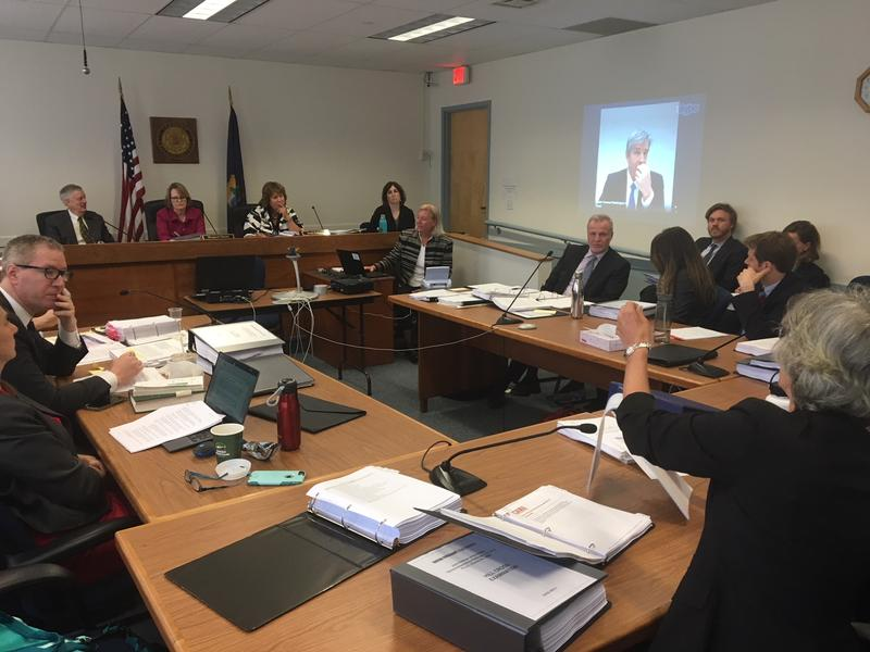 The Public Utility Commission held the final hearing on the sale of the Vermont Yankee plant as a witness testified by video the deal still is risky for the public and th environment.