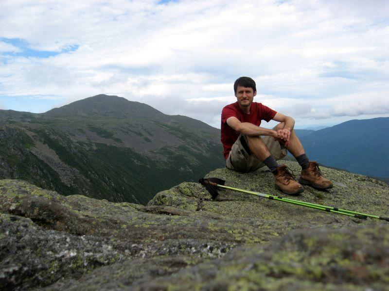 Composer Keane Southard hiked the New England portion of the Appalachian Trail during the summer of 2016. Here, he is pictured in the Presidential Range of the White Mountains in New Hampshire.