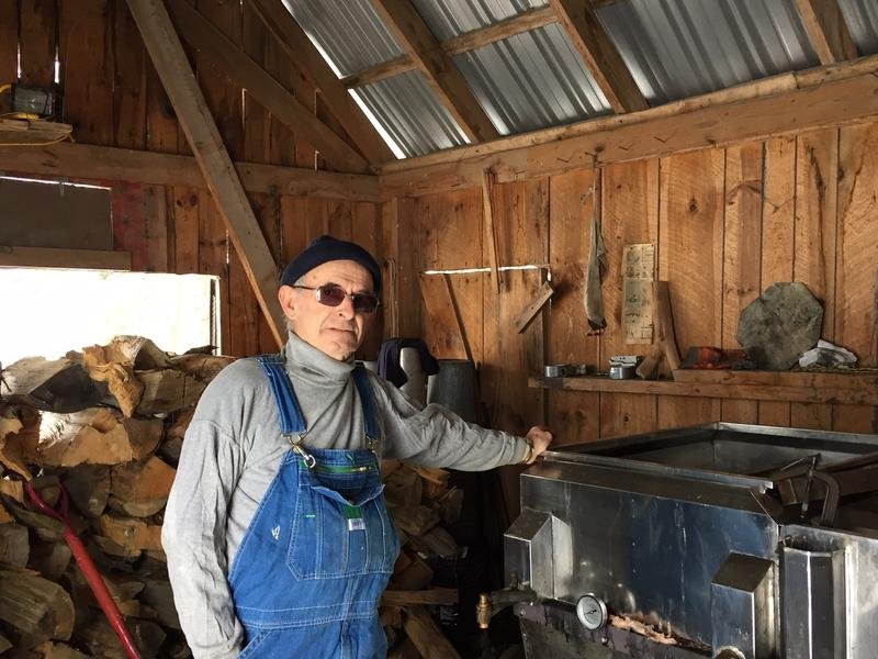 At home in his sugar house. It was a job with a maple syrup operation that brought Yvan to Vermont 62 years ago.