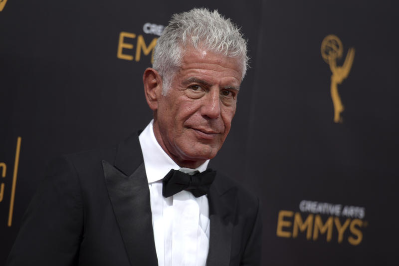 At a September 11, 2016 event, Anthony Bourdain looked poised and self-assured.