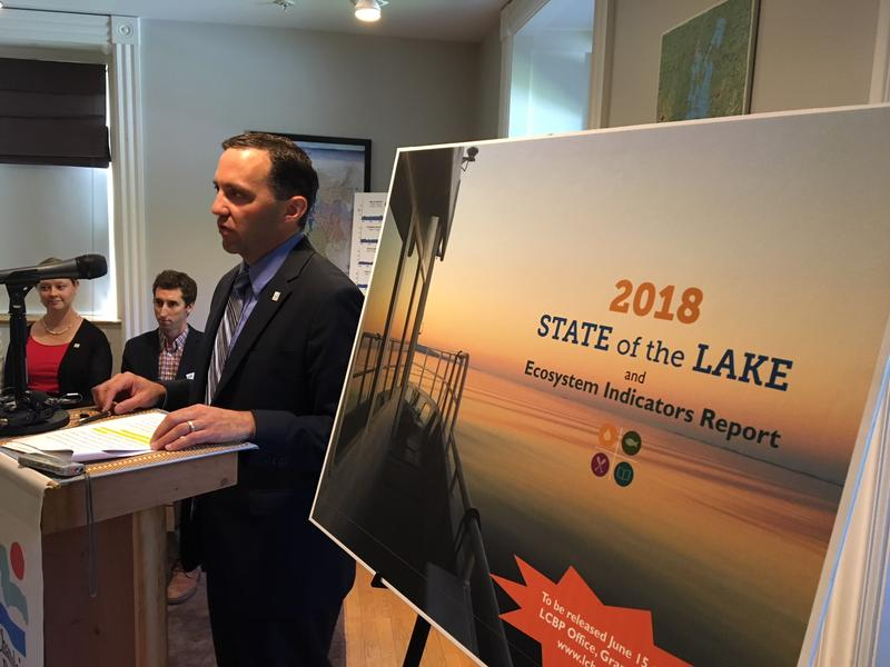 Eric Howe, director of the Lake Champlain Basin Program, says the lake will take time to recover from years phosphorus pollution even as it faces new threats such as climate change.