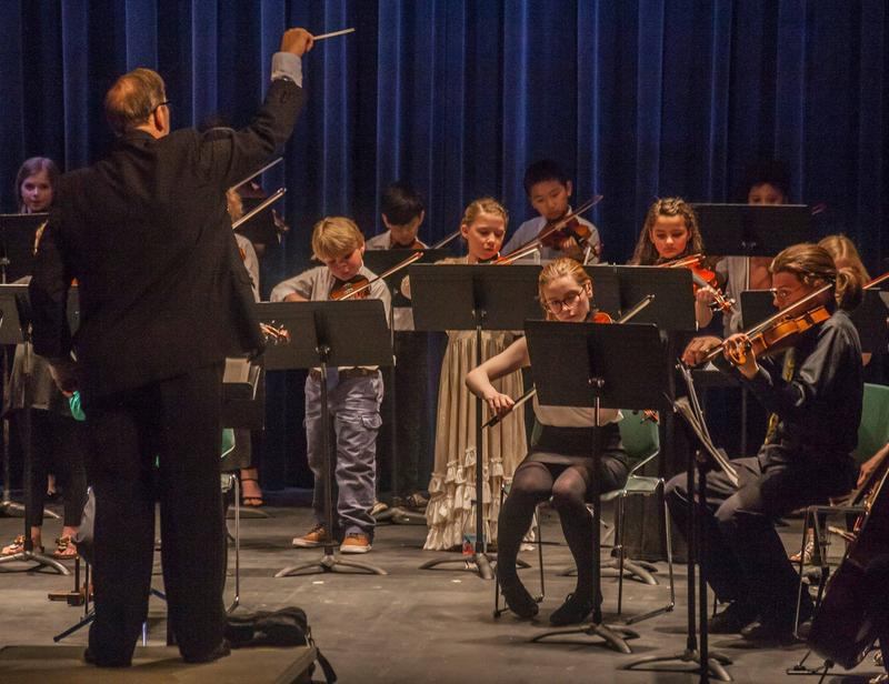 Sixteen elementary and middle school students performed with adults in this NEK Community Orchestra concert.