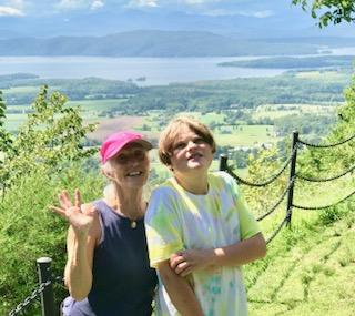 Melinda Moulton and grandson, Rowan Riggs, took in the view together recently from the top of Mt. Philo.