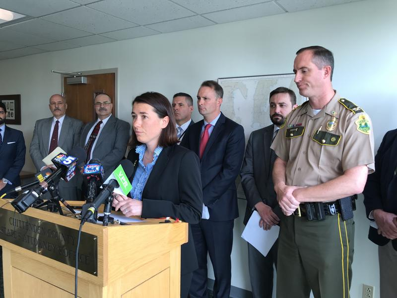 Chittenden County State's Attorney Sarah George, seen at a press conference Friday, will not file charges in a police shooting that took place in February.