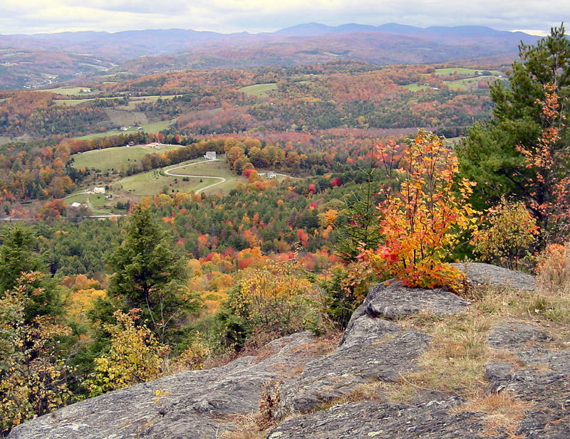 The view from the top of Wright's Mountain in Bradford overlooks the Waits River Valley.