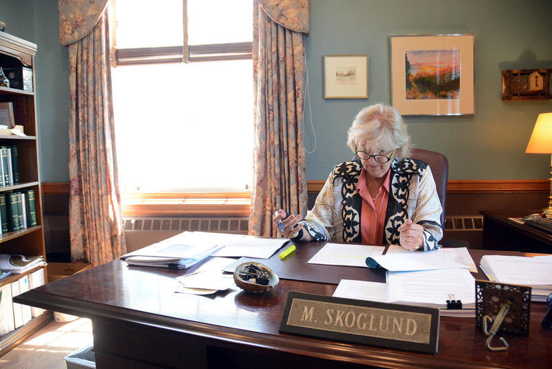 Justice Marilyn Skoglund is currently the longest-serving member of Vermont's high court. She moved here in 1973, and her first residence in the state was an uninsulated shepherd's cottage on a 500-acre dairy farm.
