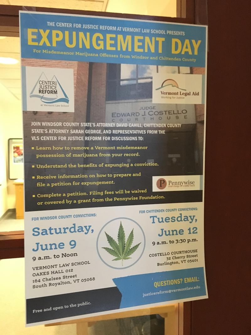 States attorneys in Chittenden and Windsor Counties held 'expungement days' to help people with marijuana misdemeanors start petitions to clear their records.