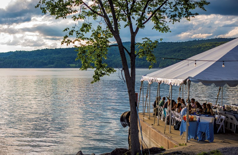 From lobster dinners to summer buffets, Basin Harbor Club's North Dock is just one of many spots in Vermont to enjoy a meal by the water.