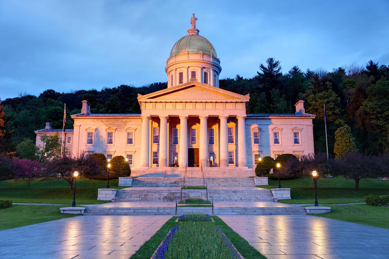 The Vermont Statehouse.