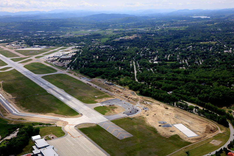 Work continues this year on moving and widening the taxiways at Burlington International Airport.