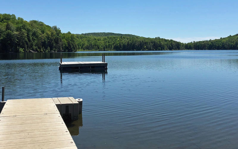 When there are no campers at the waterfront, Buck Lake is a quiet place.