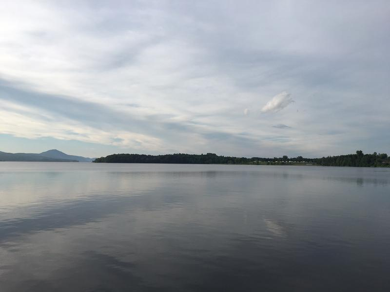 The day before the race, the lake was calm. But Memphremagog can be rough, and the marathon swim is considered one of the hardest in the world.