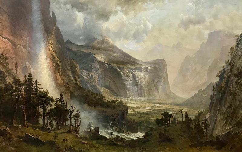 """Restored and repaired, """"Domes of the Yosemite,"""" by Albert Bierstadt is on display for the public again at the St. Johnsbury Athenaeum."""