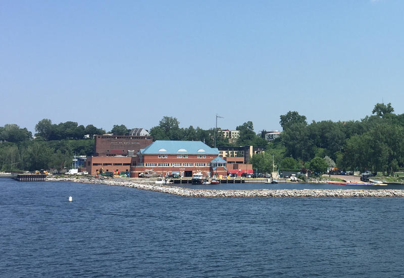 The U.S. Coast Guard Burlington station.