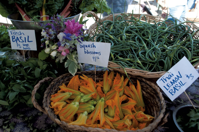 Fresh produce at The Capital City Farmers Market from LaPage Farm in Barre.