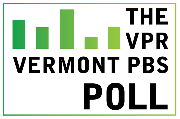 The VPR - Vermont PBS Poll logo with green bar graphic