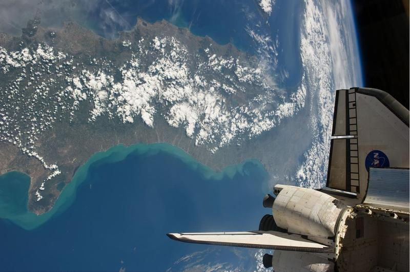 Italy as seen from the space shuttle Endeavour while docked at the International Space Station in May 2011.