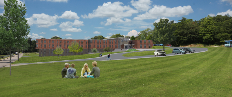 A rendering of the proposed renovations to Burlington High School.