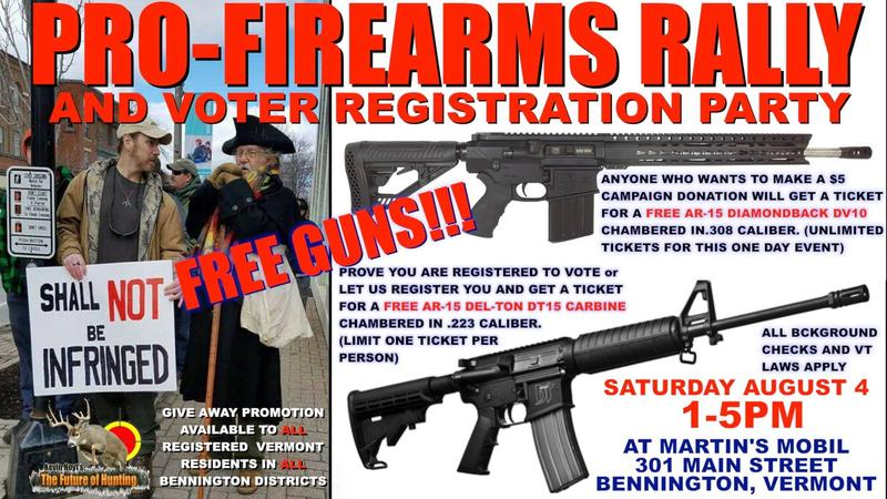 Republican candidate for House seat, Kevin Hoyt, is hosting a gun raffle and pro-firearms rally in Bennington.